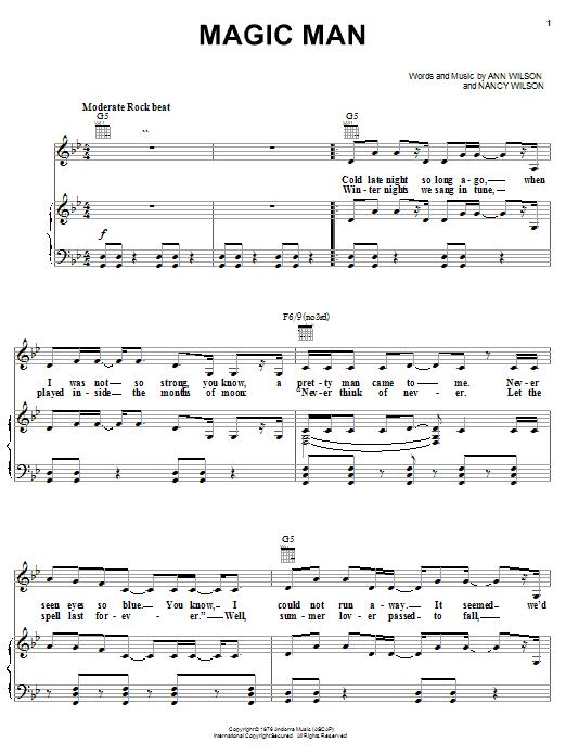 Heart Magic Man sheet music notes and chords. Download Printable PDF.