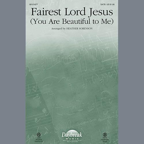 Heather Sorenson, Fairest Lord Jesus (You Are Beautiful to Me) - Violin 2, Choir Instrumental Pak