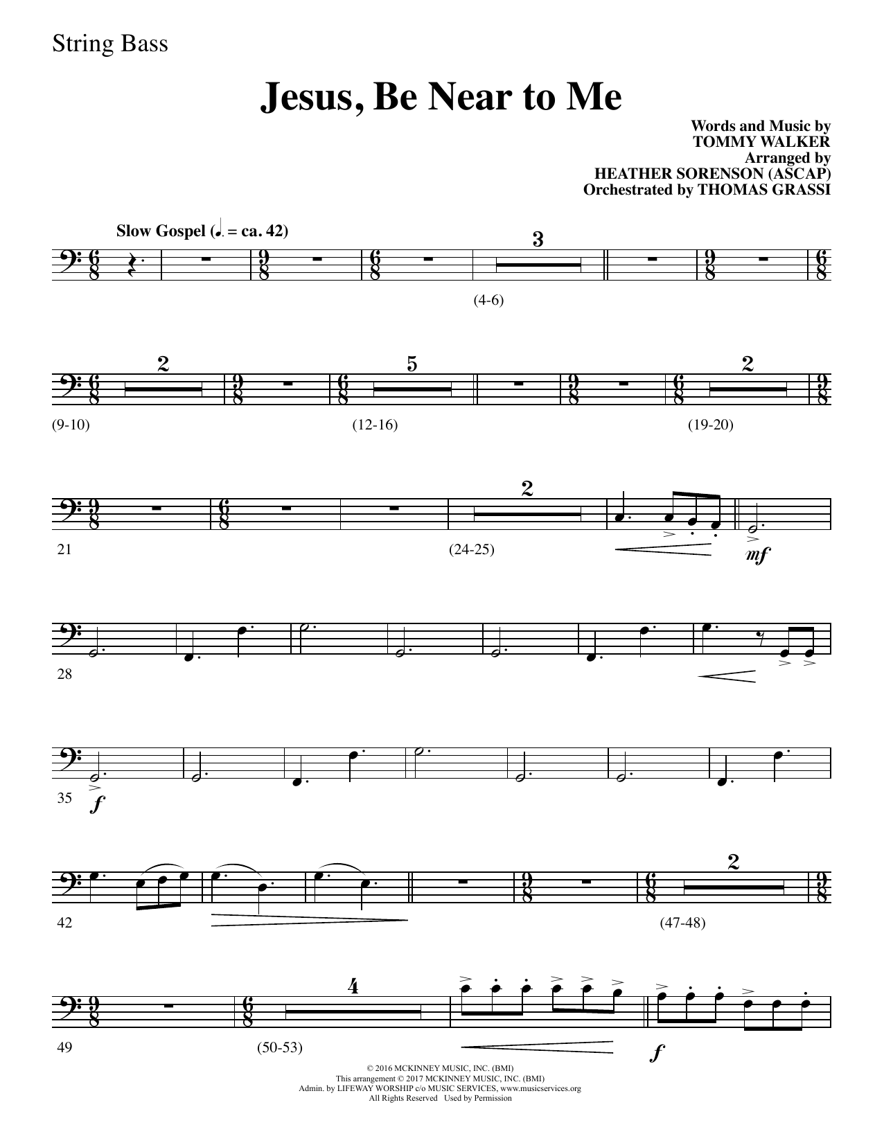 Heather Sorenson Jesus, Be Near to Me - String Bass sheet music notes and chords. Download Printable PDF.