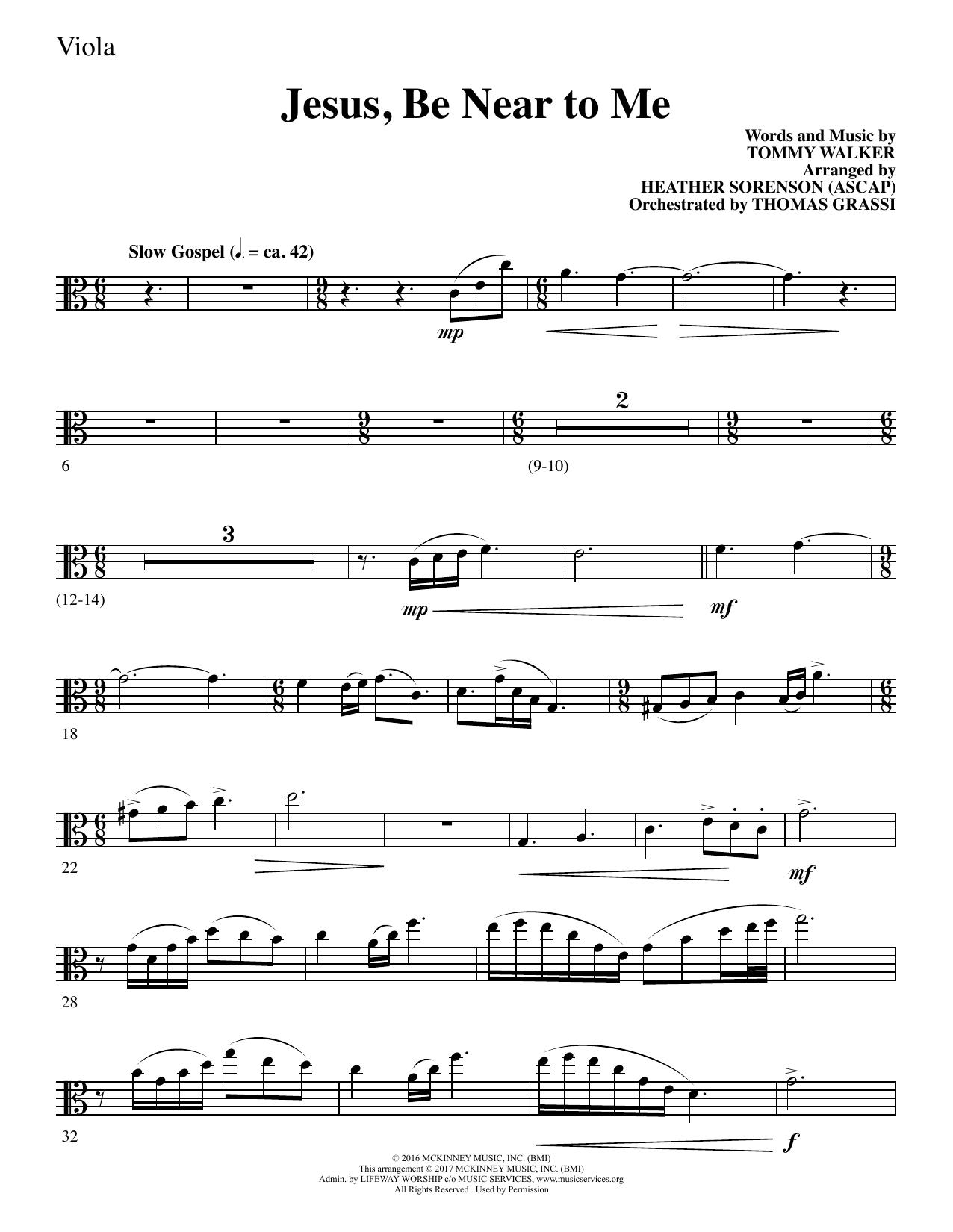 Heather Sorenson Jesus, Be Near to Me - Viola sheet music notes and chords. Download Printable PDF.
