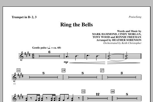 Heather Sorenson Ring The Bells - Bb Trumpet 2,3 sheet music notes and chords. Download Printable PDF.