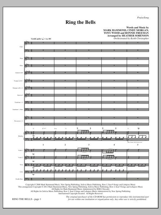 Heather Sorenson Ring The Bells - Full Score sheet music notes and chords. Download Printable PDF.
