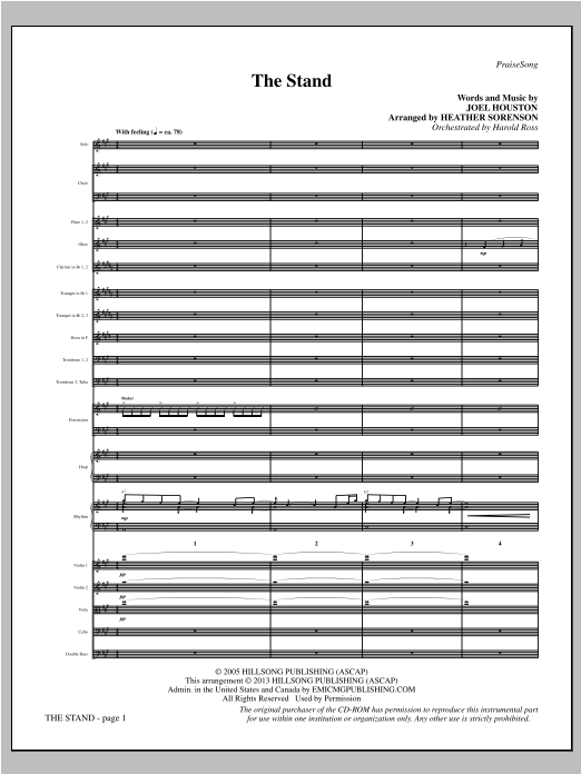 Heather Sorenson The Stand - Full Score sheet music notes and chords. Download Printable PDF.