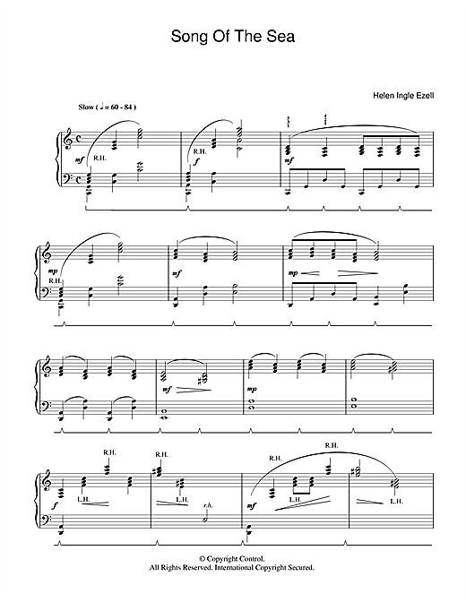 Helen Ingle Ezell Song Of The Sea sheet music notes and chords. Download Printable PDF.