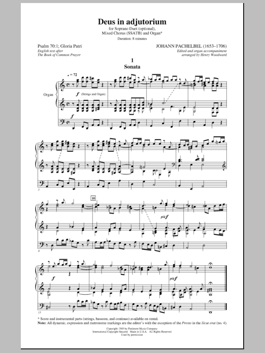Henry Woodward Deus In Adjutorium sheet music notes and chords. Download Printable PDF.