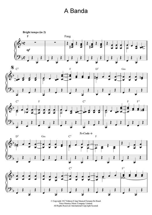 Herb Alpert & The Tijuana Brass A Banda sheet music notes and chords. Download Printable PDF.