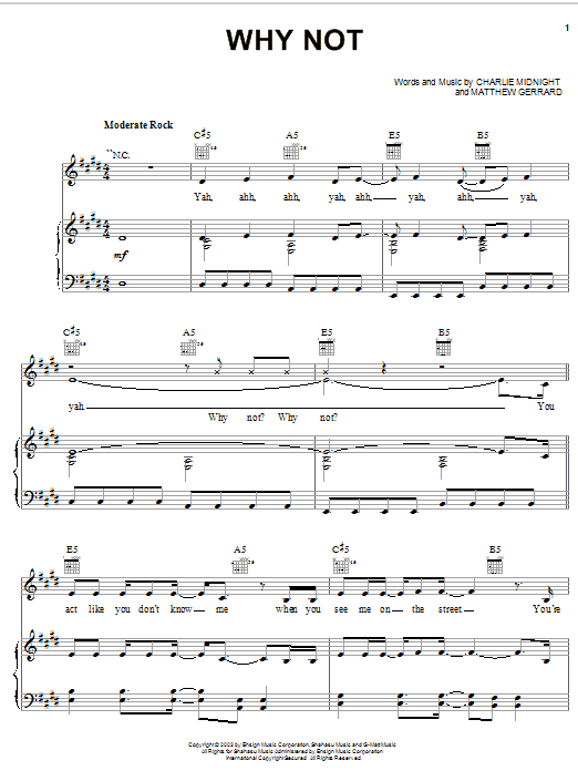 Hilary Duff Why Not (from the Lizzie McGuire Movie) sheet music notes and chords