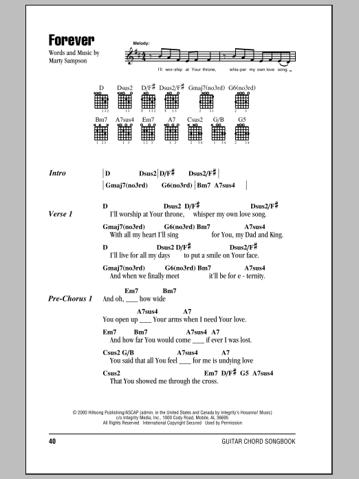 Hillsong United Forever sheet music notes and chords. Download Printable PDF.