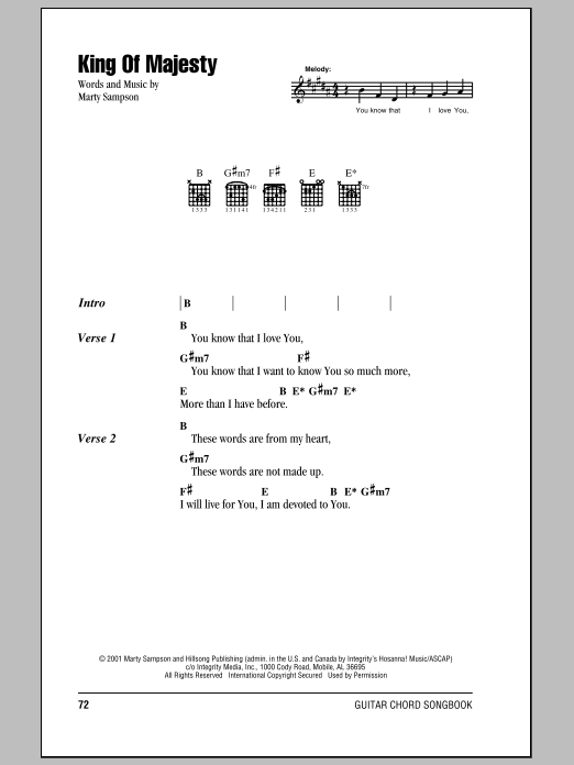 Hillsong United King Of Majesty sheet music notes and chords. Download Printable PDF.