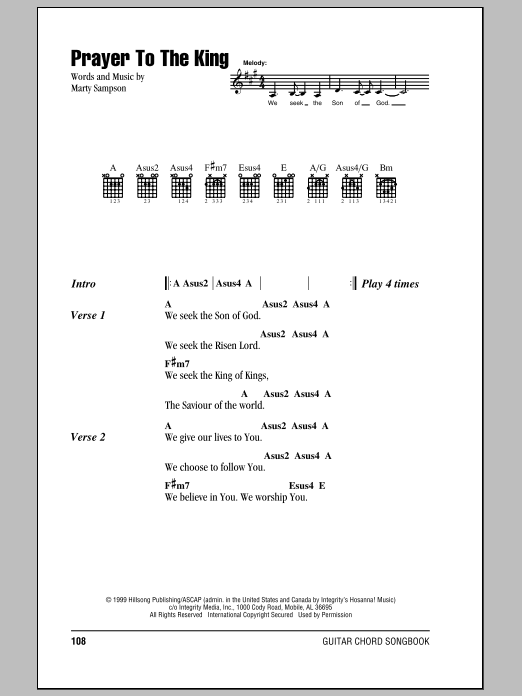 Hillsong United Prayer To The King sheet music notes and chords. Download Printable PDF.