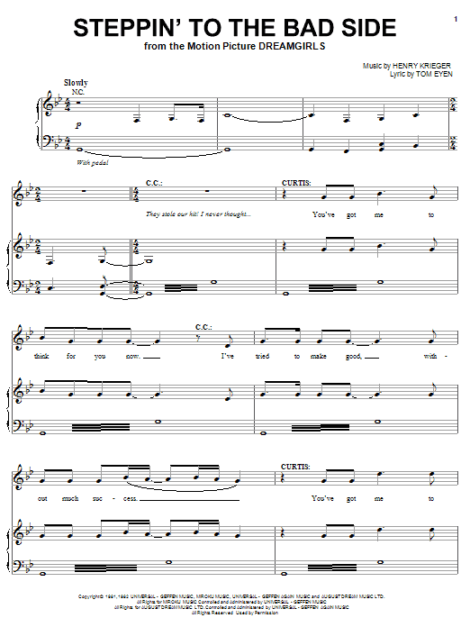 Hinton Battle and Jamie Foxx Steppin' To The Bad Side sheet music notes and chords. Download Printable PDF.