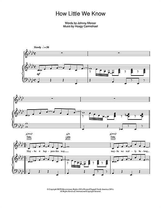 Hoagy Carmichael How Little We Know sheet music notes and chords. Download Printable PDF.