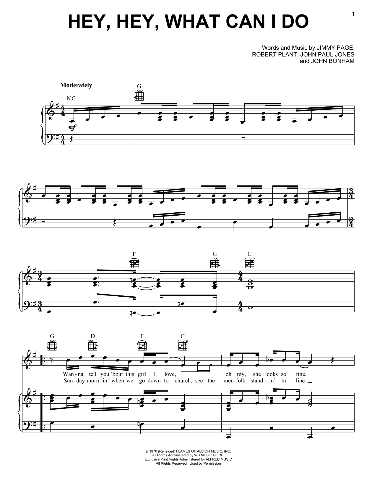 Hootie & The Blowfish Hey, Hey, What Can I Do sheet music notes and chords