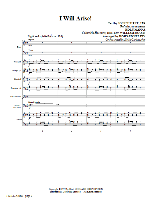 Howard Helvey I Will Arise! - Full Score sheet music notes and chords. Download Printable PDF.