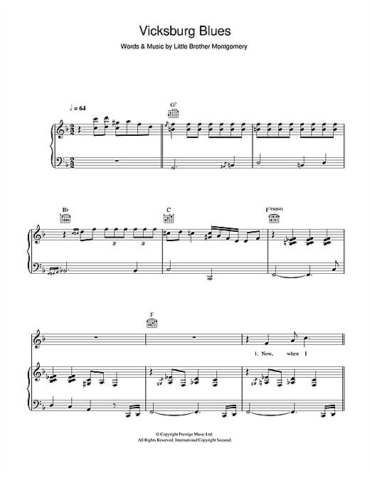 Hugh Laurie Vicksburg Blues sheet music notes and chords. Download Printable PDF.
