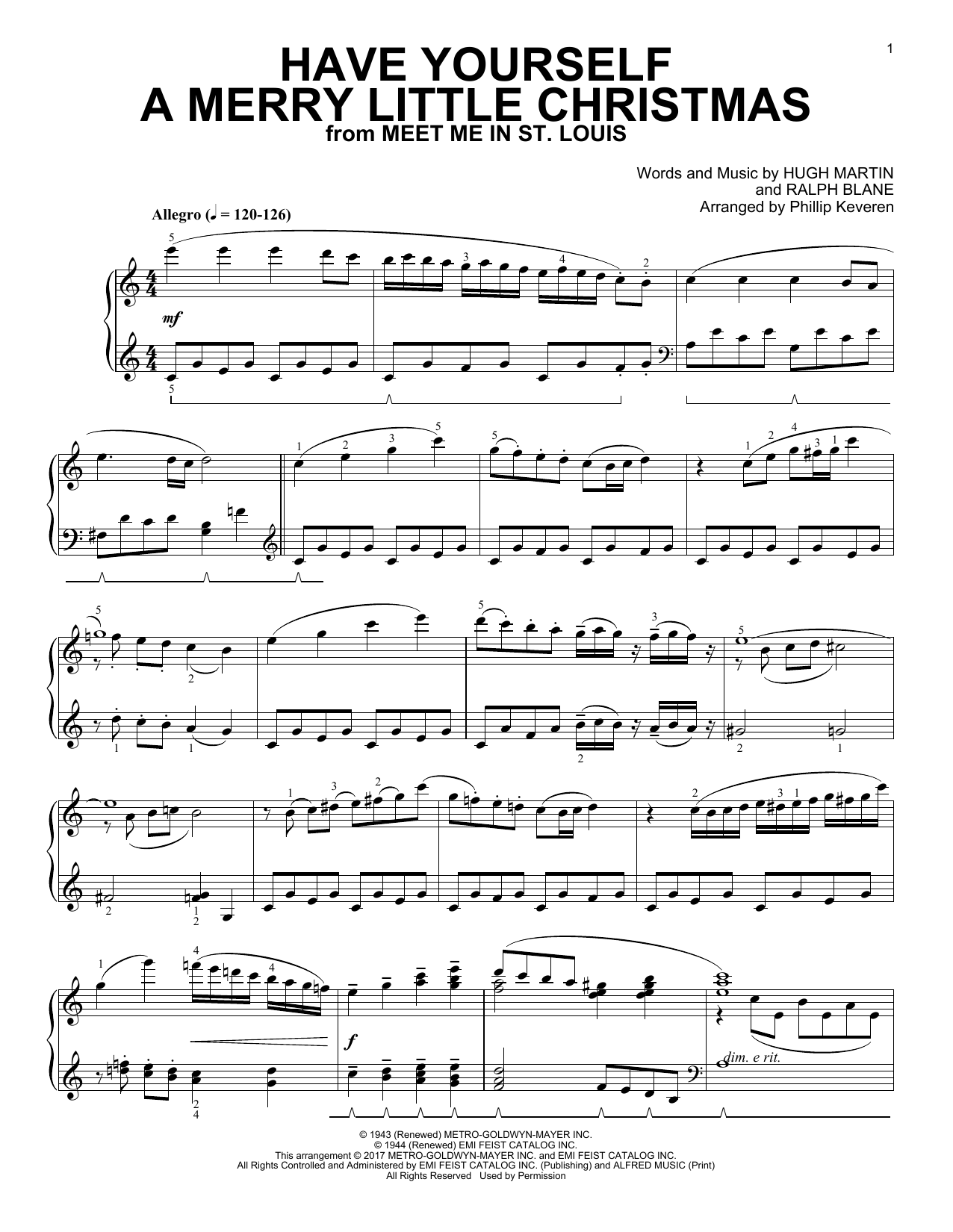 Phillip Keveren Have Yourself A Merry Little Christmas [Classical version] (arr. Phillip Keveren) sheet music notes and chords. Download Printable PDF.