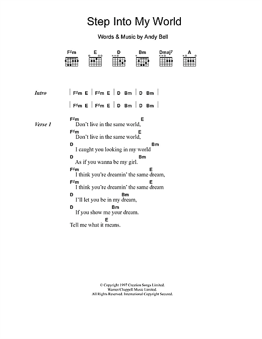 Hurricane #1 Step Into My World sheet music notes and chords. Download Printable PDF.