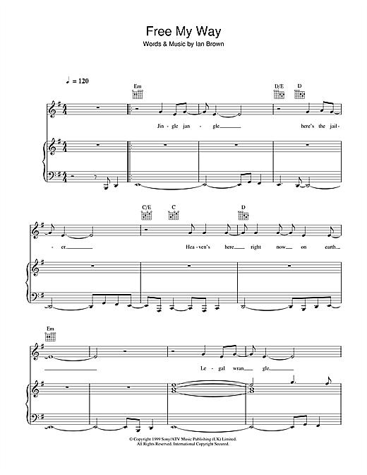 Ian Brown Free My Way sheet music notes and chords. Download Printable PDF.