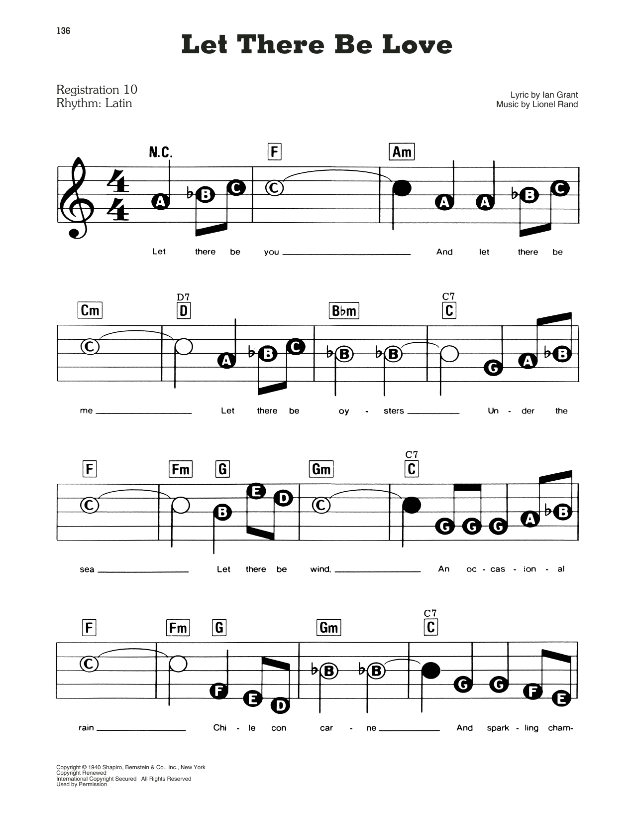 Ian Grant and Lionel Rand Let There Be Love sheet music notes and chords. Download Printable PDF.