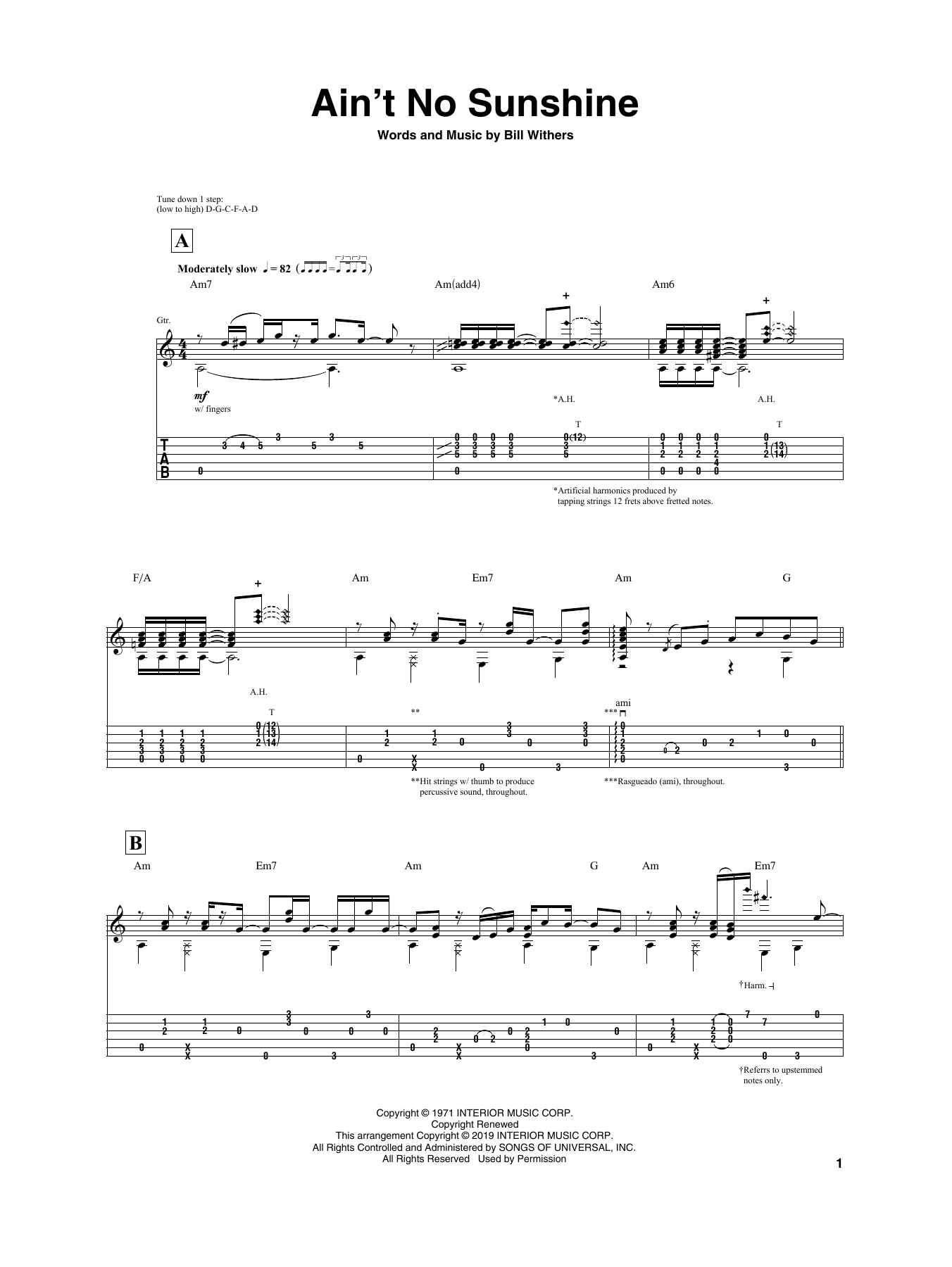 Igor Presnyakov Ain T No Sunshine Sheet Music Pdf Notes Chords Pop Score Guitar Tab Download Printable Sku 407177 Dm c ain't no sunshine when she's gone, and this house just ain't no home, am em am anytime she goes away. igor presnyakov ain t no sunshine sheet music notes chords download printable guitar tab pdf score sku 407177