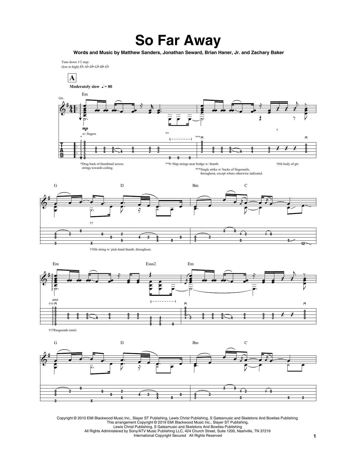 Igor Presnyakov So Far Away Sheet Music Pdf Notes Chords Pop Score Guitar Tab Download Printable Sku 407185