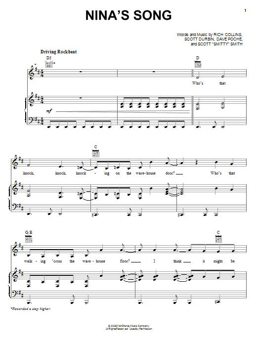 Imagination Movers Nina's Song sheet music notes and chords. Download Printable PDF.