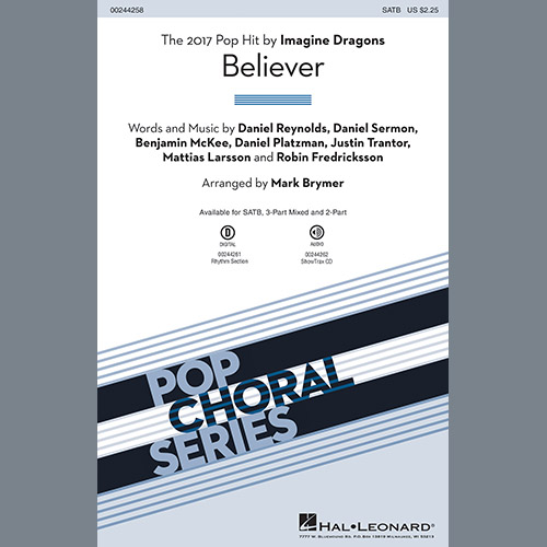 Easily Download Imagine Dragons Printable PDF piano music notes, guitar tabs for Choir Instrumental Pak. Transpose or transcribe this score in no time - Learn how to play song progression.