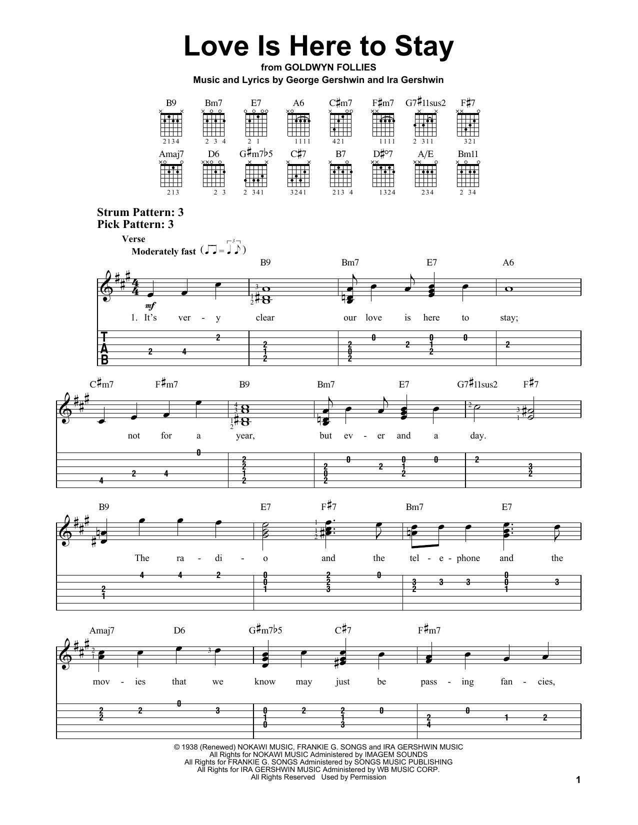 Ira Gershwin Love Is Here To Stay sheet music notes and chords. Download Printable PDF.