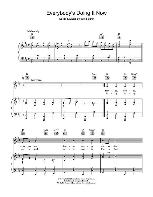 Irving Berlin Everybody's Doing It (Now) sheet music notes and chords