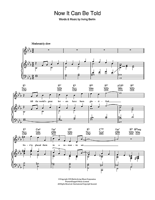 Irving Berlin Now It Can Be Told sheet music notes and chords. Download Printable PDF.