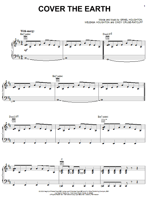 Israel Houghton Cover The Earth sheet music notes and chords. Download Printable PDF.