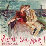 Download Italian Folksong 'Vieni Sul Mar' Printable PDF 3-page score for Folk / arranged Piano Solo SKU: 88517.