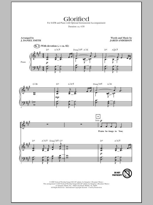 J. Daniel Smith Glorified sheet music notes and chords