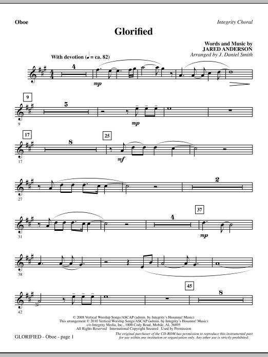 J. Daniel Smith Glorified - Oboe sheet music notes and chords. Download Printable PDF.