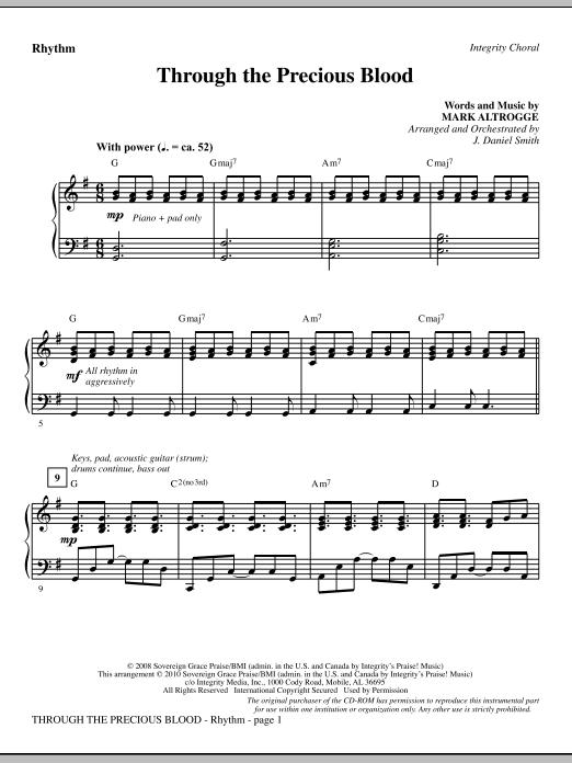 J. Daniel Smith Through The Precious Blood - Rhythm sheet music notes and chords. Download Printable PDF.