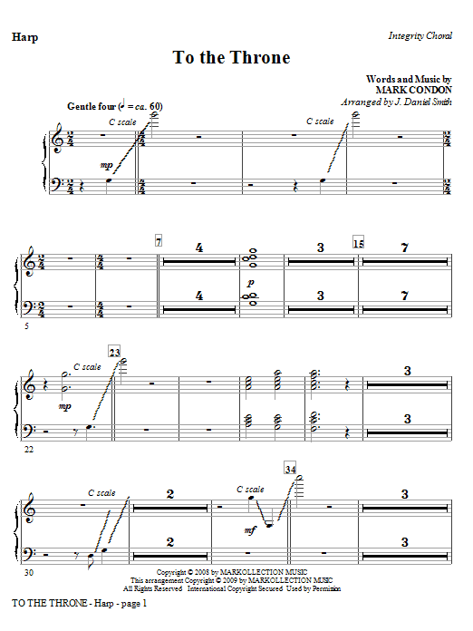 J. Daniel Smith To The Throne - Harp sheet music notes and chords. Download Printable PDF.