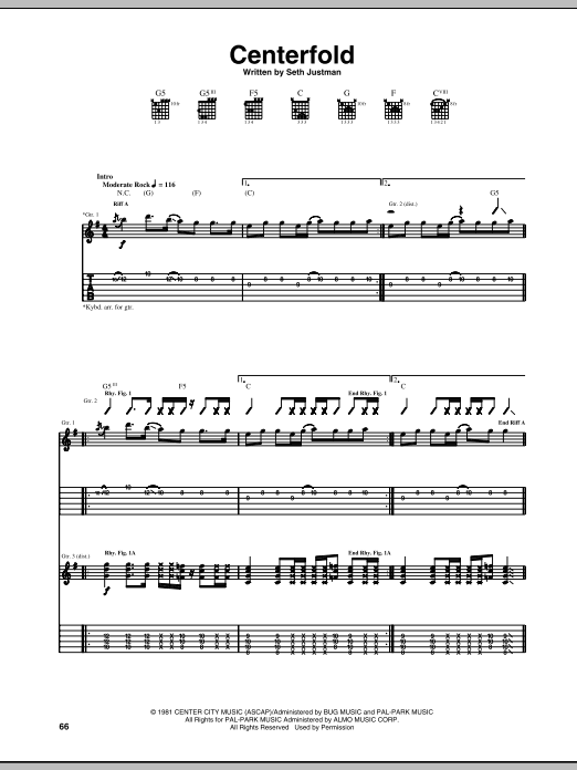 J. Geils Band Centerfold sheet music notes and chords. Download Printable PDF.