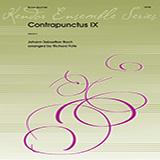 Download or print J.S. Bach Contrapunctus IX (arr. Richard Fote) - Trombone Sheet Music Printable PDF 2-page score for Classical / arranged Brass Ensemble SKU: 405073.