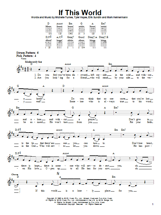 Jaci Velasquez If This World sheet music notes and chords. Download Printable PDF.