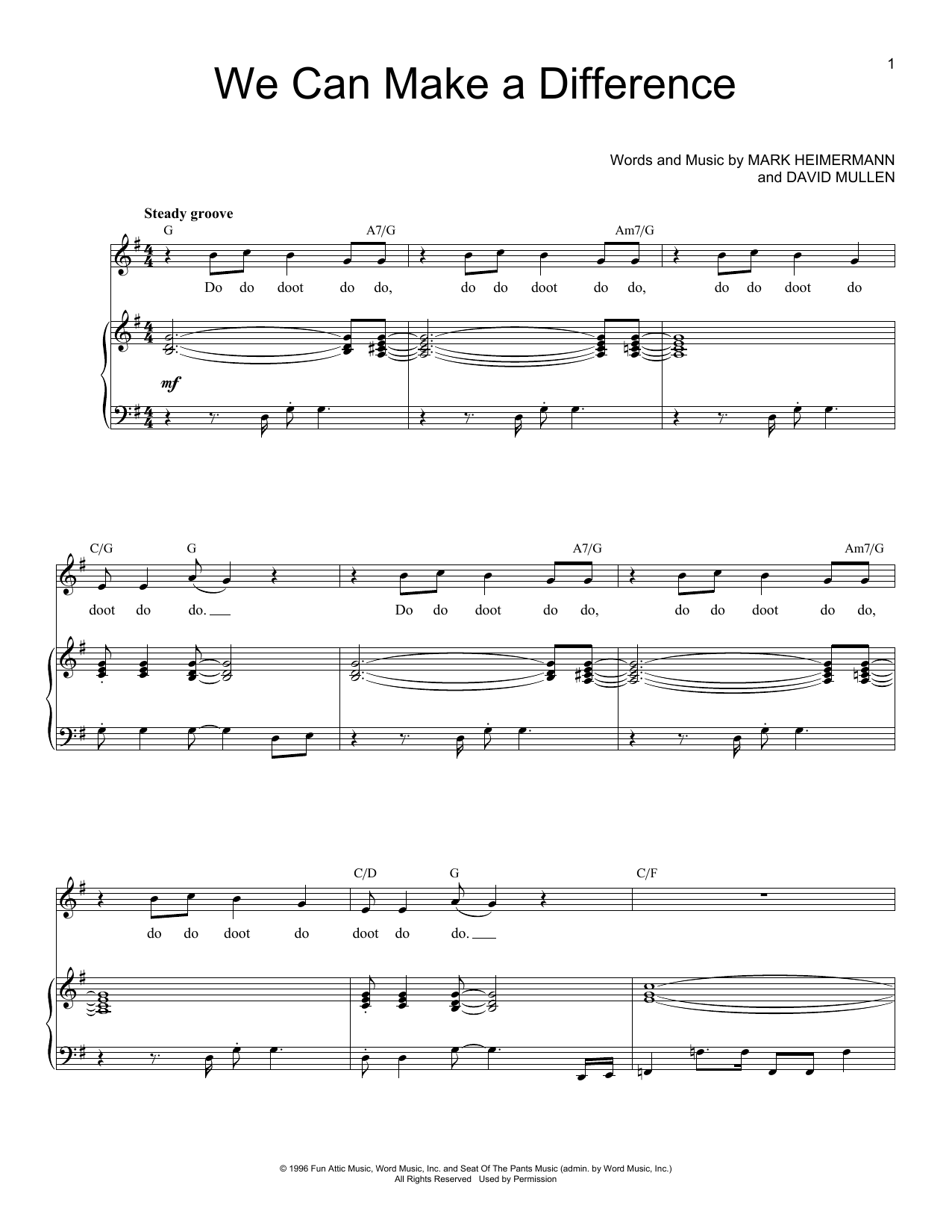Jaci Velasquez We Can Make A Difference sheet music notes and chords. Download Printable PDF.