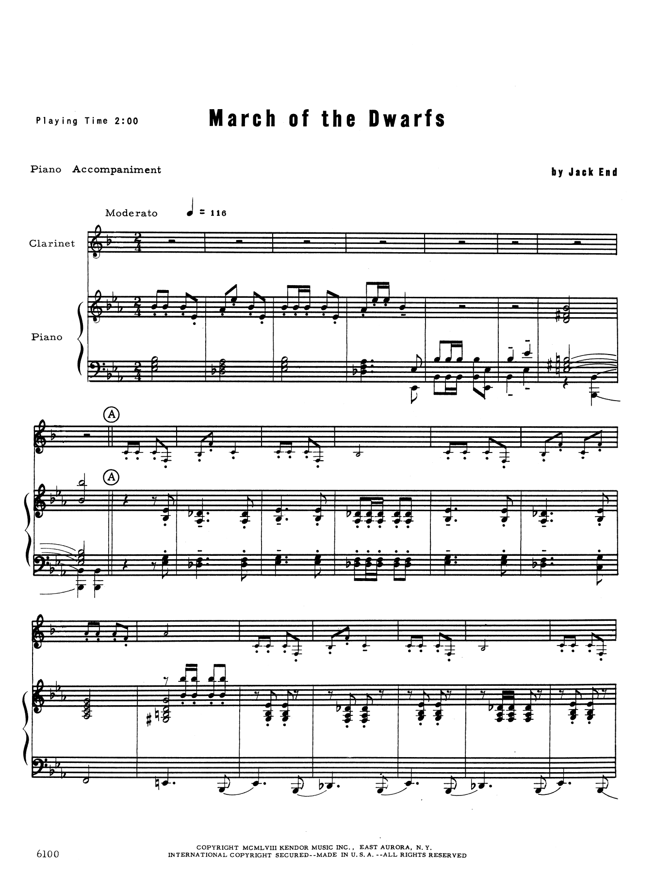 Jack End March of the Dwarfs - Piano (optional) sheet music notes and chords. Download Printable PDF.