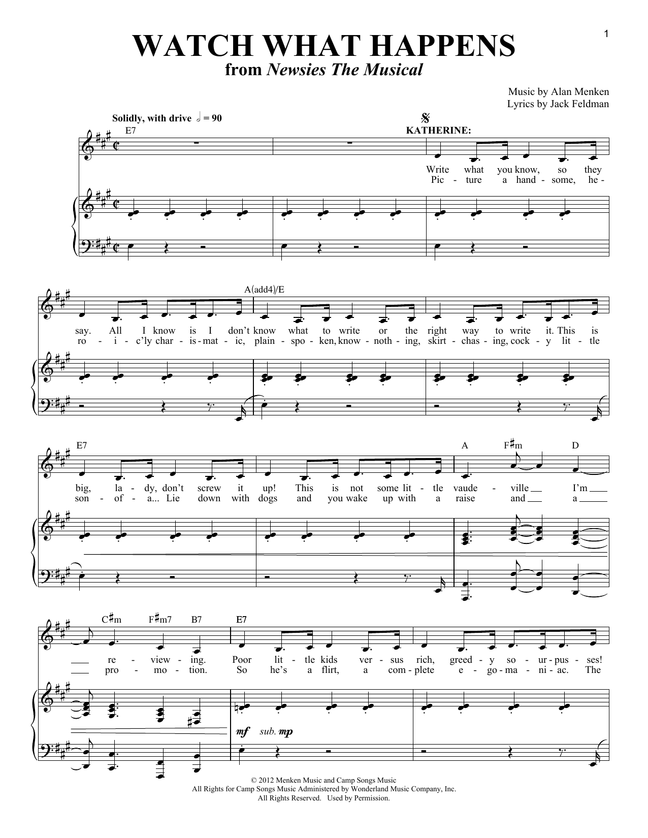 Jack Feldman Watch What Happens sheet music notes and chords. Download Printable PDF.