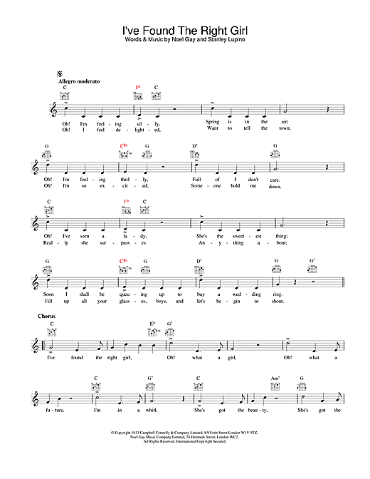 Jack Jackson I've Found The Right Girl sheet music notes and chords. Download Printable PDF.