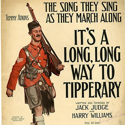 Jack Judge, It's A Long Way To Tipperary, Piano, Vocal & Guitar (Right-Hand Melody)