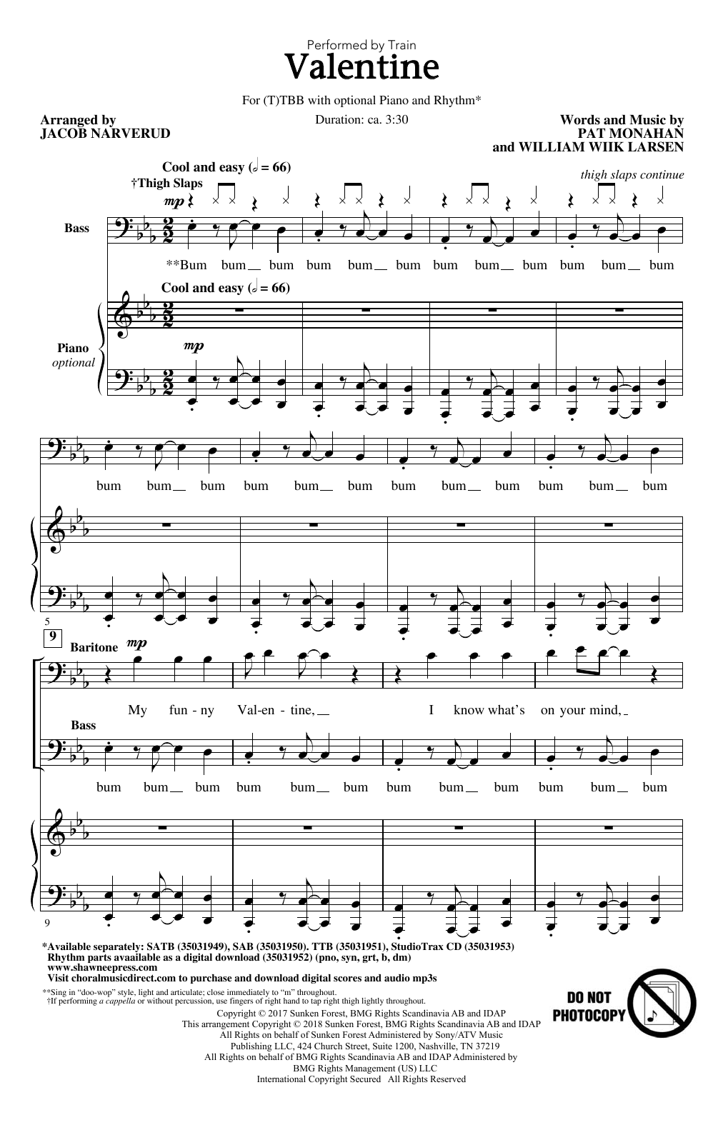 Jacob Narverud Valentine sheet music notes and chords. Download Printable PDF.