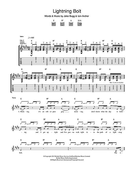 Jake Bugg Lightning Bolt sheet music notes and chords