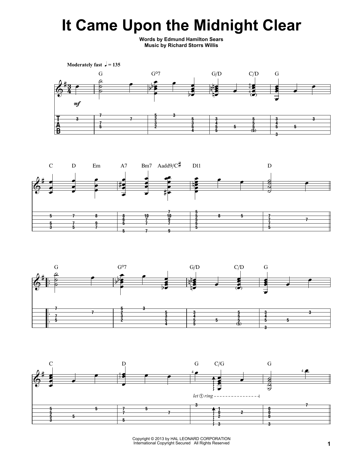 Jake Reichbart It Came Upon The Midnight Clear sheet music notes and chords. Download Printable PDF.