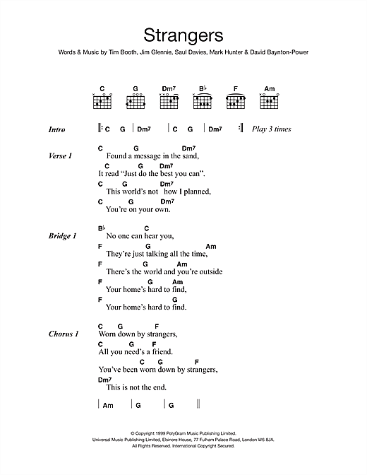James Strangers sheet music notes and chords. Download Printable PDF.