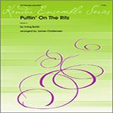 Download or print James Christensen Puttin' on the Ritz - 2nd Trombone Sheet Music Printable PDF 2-page score for Jazz / arranged Brass Ensemble SKU: 340982.