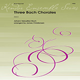 Download or print James Christensen Three Bach Chorales - Bass Sheet Music Printable PDF 1-page score for Concert / arranged Brass Ensemble SKU: 373899.